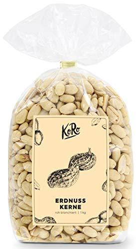 KoRo - Erdnüsse roh blanchiert 1kg - Geschälte Erdnuss Kerne ohne Salz und andere Zusätze