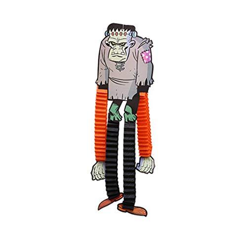 Lidahaotin Einstellbare Länge Tapezierung Geist Spinne Kürbis-Gesicht Zombie Aufhänger Halloween Dekoration Prop #2 23 * 44cm