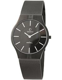 Obaku Harmony V122GTBMB - Reloj analógico de caballero de cuarzo con correa de acero inoxidable