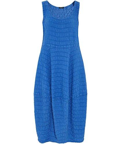 Grizas Da Donna abito in lino martellata Cobalto Cobalto