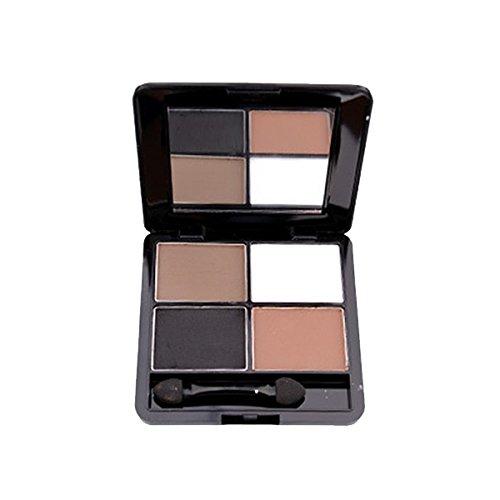 PIXNOR 4 Couleurs Fard à Paupières Palette de Maquillage + Miroir + Eponge