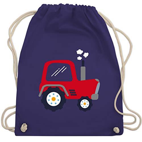 Fahrzeuge Kind - Kinder Traktor - Unisize - Lila - WM110 - Turnbeutel & Gym Bag