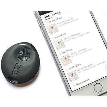 Yuzzit Porte-clés connecté via bluetooth multifonctions : Tracker Key / Localisateur de Clés, Géolocalisation GPS, Mémo Vocal, Reconnaissance Musique et TV (Noir)