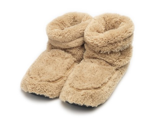 Furry Warmers Fully Microwavable Furry Boots Beige -