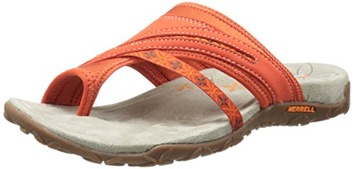 Merrell - Terran Post, Infradito da donna Rosso (Red Clay)