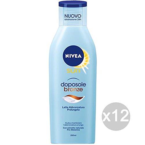 Set 12 nivea sun 86039 doposole latte bronze prol. abbronzatura per mare e estate