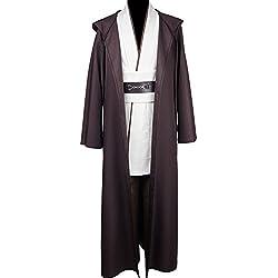 Disfraz de Jedi de Star Wars, tallaje europeo, para adultos Blanco blanco XL