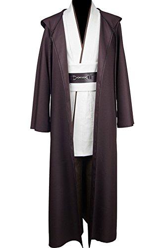 Disfraz de Jedi de Star Wars, tallaje europeo, para adultos Blanco blanco L