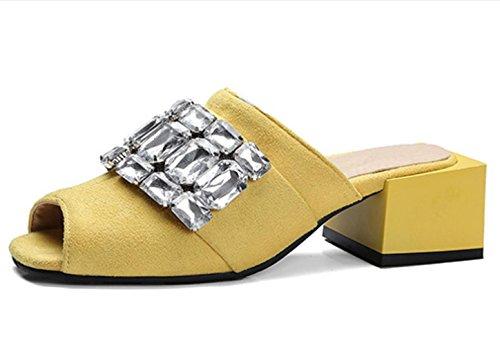 schuhe-fur-frauen-summer-outwear-fashion-sandale-mit-grosse-grosse-gelb