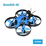 BETAFPV Beta85X 4K DSMX 4S Brushless Cine Whoop Quadcopter with F4 V2 FC BLHeli_32 16A ESC Tarsier 4K Camera OSD Smart Audio 1105 5000KV Motor XT30 Cable for Micro Whoop Drone FPV Racing