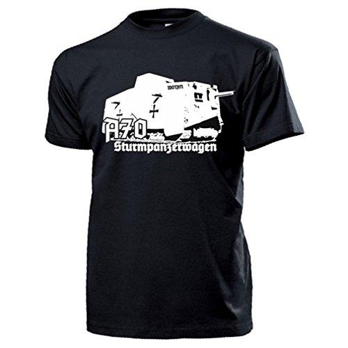 A7V Sturmpanzerwagen Panzer Wotan Panzerwagen Tank T Shirt #17518, Farbe:Schwarz, Größe:Herren L