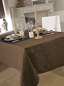 NAPPE DAMASSEE OMBRA TAUPE 150X350