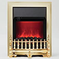 Be Modern Camberley Inset LED Electric Fire Brass