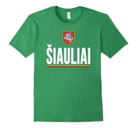 Men's SIAULIAI T-shirt Lietuva Pride Lithuanian Flag Lithuania Tee Medium Grass