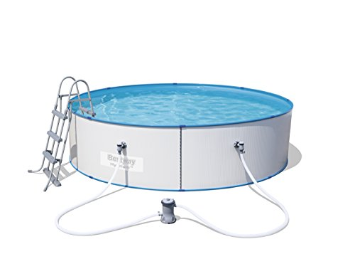 Bestway Hydrium Splasher Pool Set, rund, 8648 L, weiß, 360 x 90 cm