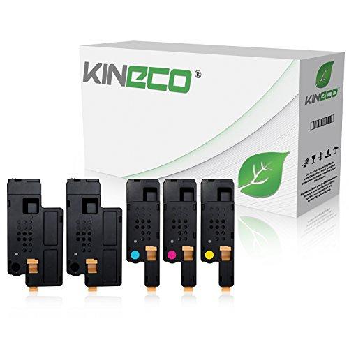 Preisvergleich Produktbild 5 Toner kompatibel zu Dell 1250c, 1350cn, 1355cnw, C1760nw, C1765nf, C1700 Series - Schwarz je 2.000 Seiten, Color je 1.400 Seiten