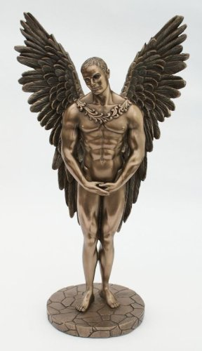 Cold Cast Bronze Angel Statue Entitled Heaven Sent - Adonis Sculpture Inspired By The Mythical Icarus by Veronese Studio (Bronze Engel Statue)