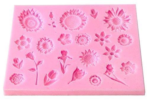 Turtle Products Silikon-Backform, verschiedene Blumen, 1 Stück