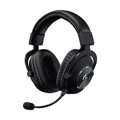 Logitech G Pro X - Auriculares con micrófono para Gaming (Segunda generación), con Blue Vo!CE, DTS Headphone:X 7.1 y transductores de Audio Pro-G de 50 mm (para PC, PS4, Switch, Xbox One, VR), Negro