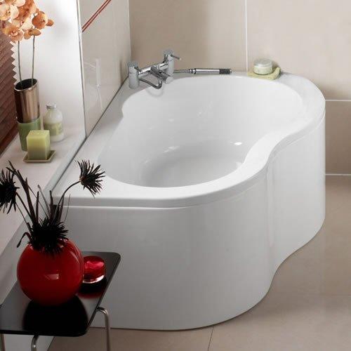 Right Hand 1500mm x 1000mm Bathroom Acrylic Corner Bath and Leg ...
