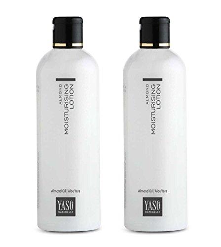 Yaso Almond Moisturising Lotion, 400 ml (Set of 2 x 200ml)