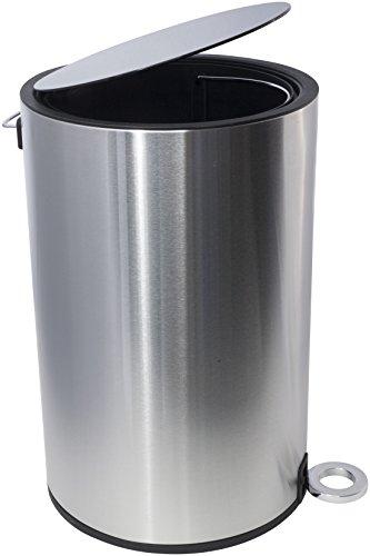 Kosmetikeimer - Poppis Mülleimer 3l und 12l mit Softclose-System - Badeimer mit Absenkautomatik (Chrom 12 Liter)