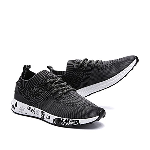 CHAUSSURES Running, Gracosy Sports Léger Ville Causual Sneaker Chaussures de course A Pied pour Homme et Femme  ,Noir ,42 EU