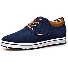 ailishabroy Zapatillas Hombre Ascensor Hombres Altura Aumentar Lace Up Zapatos Casual