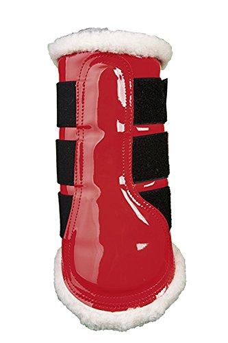 HKM un confort anatomique Cheval Poney coloré avec doublure en fourrure brossage/Protection Bottes rouge - Rouge