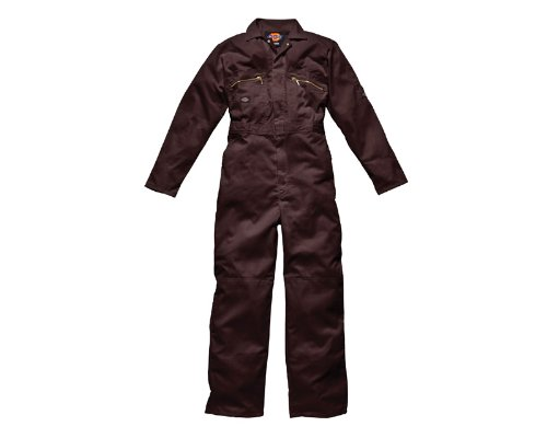 Dickies - Tuta Intera da Lavoro Multi-tasche Con Zip - Uomo (137cm) (Nero)