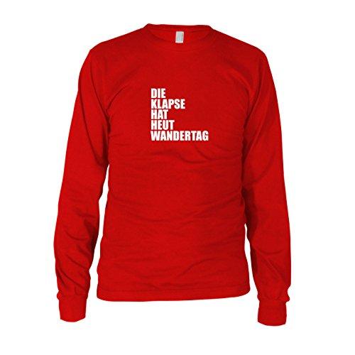 Die Klapse hat heut Wandertag - Herren Langarm T-Shirt Rot