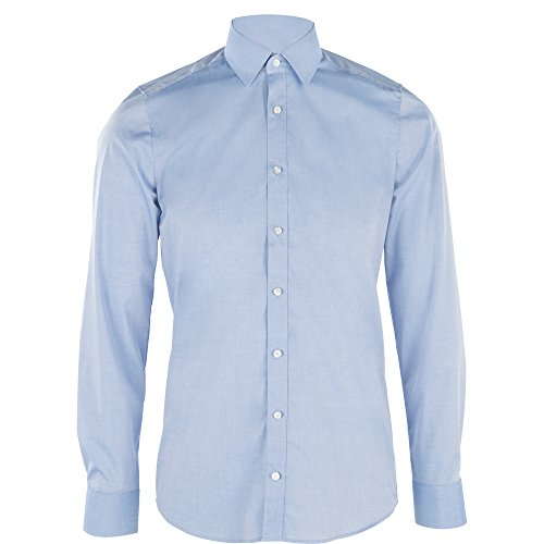 Stretch-baumwolle Hemd (OLYMP Herren Hemd Level 5 Body Fit Langarm, 45, Hellblau)