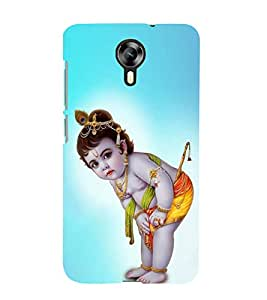 FUSON Lod Little Kishna 3D Hard Polycarbonate Designer Back Case Cover for Micromax Canvas Xpress 2 E313