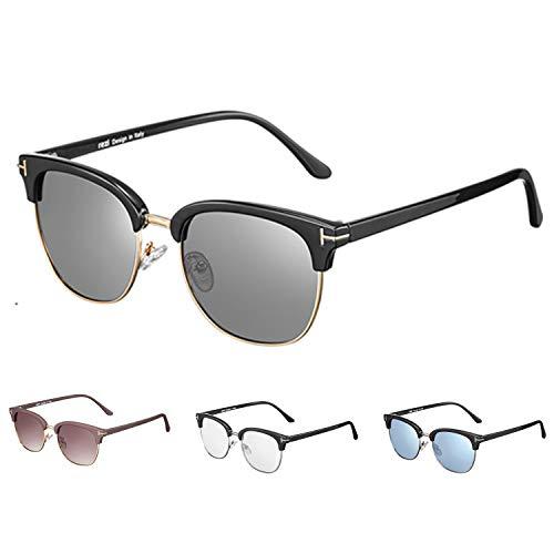 Rezi Gafas de Sol Polarizadas para Hombre y Mujeres, UV400 Lentes de Nylon con Almohadillas de Nariz Ajustables, 2 tipos - Gafas de juego óptico (Luz anti-azul, antifatiga) | Gafas de Sol