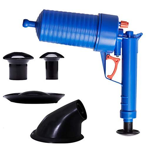 Zgrbq ToiletteBagger,Druckpumpe Reiniger Hochdruck-Abflussöffner Wasserkolbenpumpe Reinigungswerkzeug für Bad-Wc-SpüLe Mit 4 Saugnäpfen (Blau).