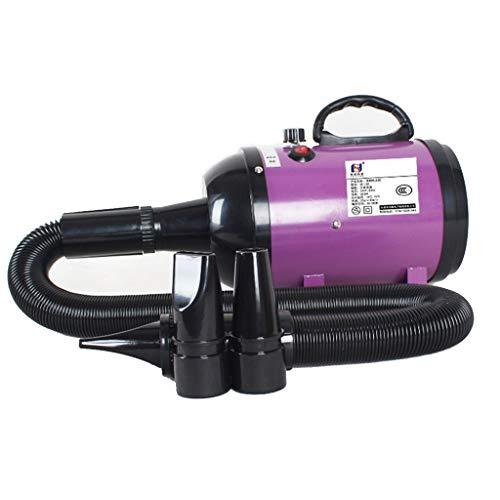 MZP 2800W Hundefön Hundetrockner Pet Trockner Tierfön Pet Dryer Hundepflege Haartrockner Haustier Pflege (Color : Purple)