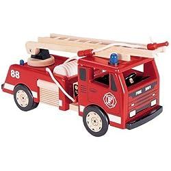 Pintoy PI03527- Camión de bomberos de madera