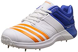 adidas Mens Adipower Vector Ftwwht, Borang and Blue Cricket Shoes - 7 UK/India (40.67 EU)