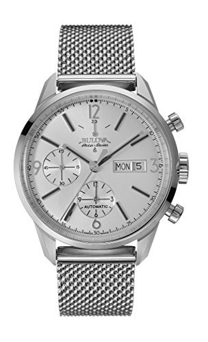 Bulova-Accu-Swiss-Murren-Mens-Automatic-Watch-with-Silver-Dial-Chronograph-Display-and-Silver-Stainless-Steel-Bracelet-63C116
