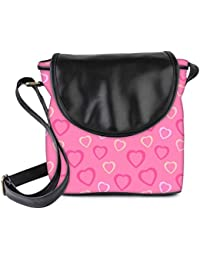 Snoogg Heart Pink Womens Sling Bag Small Size Tote Bag
