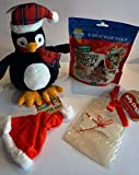 Paradise Pets CHRISTMAS DOG GIFT BOX WITH PLUSH PENGUIN 300G DELI VARIETY PACK XMAS HAT & CARD