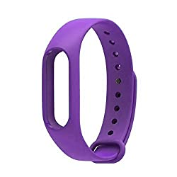 Techonto Replacement Band Strap for Xiaomi Mi Band 2(Device not included) (Purple)