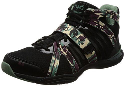 Ryka Women's Tenacity Dance Training Sneaker (5 B(M) US, Black/Print) (Studio Womens Ryka)