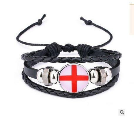 Naisidier Armband Armreif 2018 Weltmeisterschaft Fanartikel England Style Flagge Gewebt Armbänder