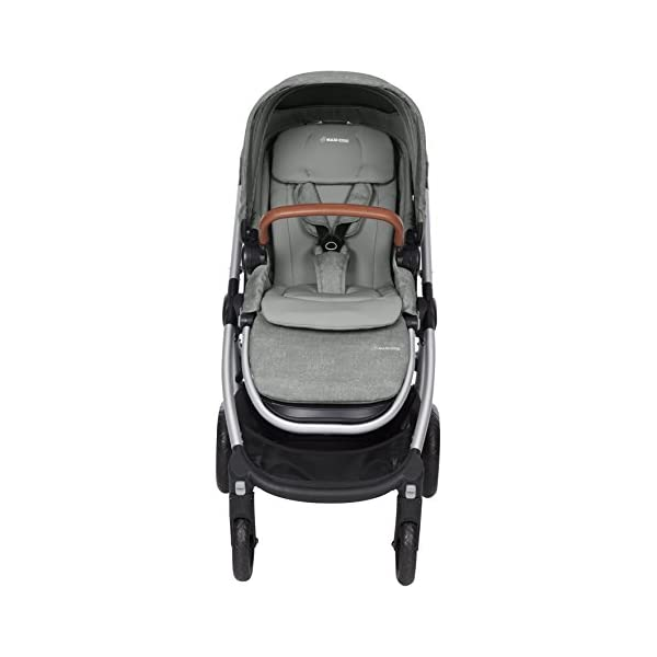 Maxi-Cosi Adorra Baby Pushchair, Comfortable and Lightweight Stroller with Huge Shopping Basket, Suitable from Birth, 0 Months - 3.5 Years, 0-15 kg, Nomad Grey Maxi-Cosi Cocooning seat - the luxury of a large padded seat for baby Lightweight - a light stroller less than 12kg that makes walking effortless Huge shopping basket - very easy to access 12