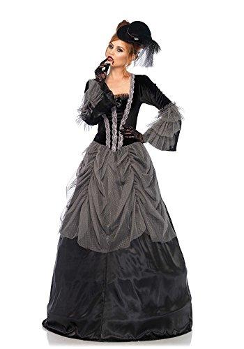 Leg Avenue 85635 Samt und Satin Viktorianisch Ballkleid, Damen Karneval Kostüm Fasching, S,...