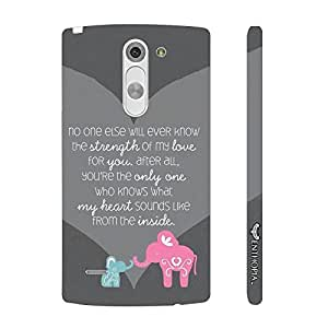 LG G3 Stylus Mom,you know me best designer mobile hard shell case by Enthopia