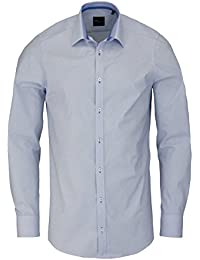 VENTI Slim Fit Hemd extra langer Arm Diagonalstreifen blau AL 69