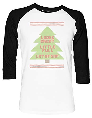 Weihnachten Urlaub Hässlich Sweatshirt Unisex Baseball T-Shirt 2/3 Ärmel Herren Damen Weiß Schwarz
