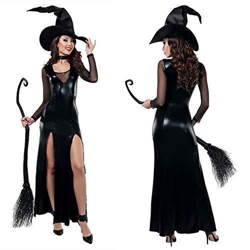 GYH Sexy Donna Halloween Vampiro Strega Magica Cosplay Catsuit Body Tuta Stretti Club Abbigliamento